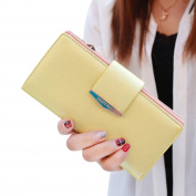 Egmy Women's Button Wallet PU leather Card Coin Holder Phone Clutch Purse Long