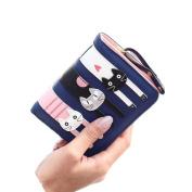 Egmy® Fashion Women Cat Pattern Bags PU Handbags Card Holder Purse Wallet Short