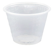 Non-Sterile 30ml Graduated Plastic Medicine Cups, 100 Count