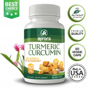 Turmeric Curcumin Dietary Supplement| The 100% Authentic Capsules W/ Black Pepper| The Best Pills W/ Natural Anti-Inflammatory/ Digestion Aiding/ Arthritis Relieving Properties| 100% Vegan-Friendly