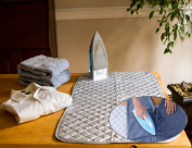Instant Ironing Board for Small Space Living! 80cm x 48cm Quilted Magnetic Ironing Mat Transforms Any Metallic Surface into an Ironing Board. Use on Top of Washer/Dryer or Any Flat Space!