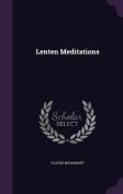 Lenten Meditations