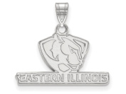 LogoArt Sterling Silver Eastern Illinois University Small Pendant Chain Included