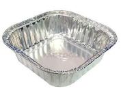ATTA International 8.9cm Mini Square Aluminium Foil Cake Pan (120ml) - Disposable Baking Food Tins