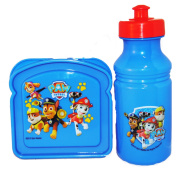 Paw Patrol Water Bottle and Sandwich Container