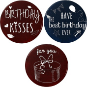 Set 3 Have the best birthday EVER Gift Kisses Party 5.7cm Bottle Openers w/ Keyring Cute Flirty