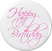 Happy Birthday Pink Script 5.7cm Bottle Opener w/ Keyring Girly Pretty Party
