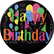 Happy Birthday - Colourful Balloons 5.7cm Bottle Opener w/ Keyring