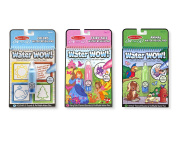 Melissa & Doug On the Go Water Wow! Activity Pads Set - Colours and Shapes, Fairy Tales, Animals