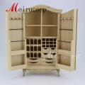 Unpainted dollhouse 1:12 scale miniature furniture Collectible wardrobe