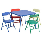 Kids Colourful 5 Piece Folding Table and Chair Set