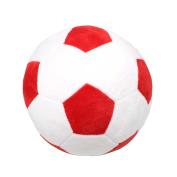 Tplay Soccer Plush Pillow Toy , 20cm L x 20cm W x 20cm H, Red