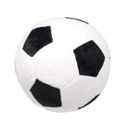 Tplay Soccer Ball Plush Pillow Toy, 20cm L x 20cm W x 20cm H, Black