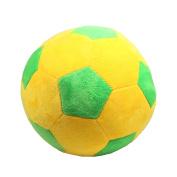Tplay Soccer Ball Plush Pillow Toy , 20cm L x 20cm W x 20cm H, Yellow & Green