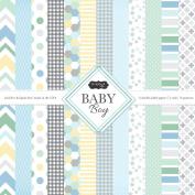 Scrapbook Customs Themed Paper Scrapbook Kit, Baby Boy