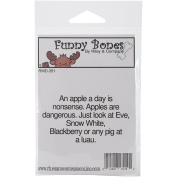 Riley & Company Funny Bones Cling Mounted Stamp 7cm x 3.8cm -Apples Are Dangerous