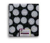 Black and White Volleyball Fat Quarter