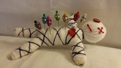 """Karma Keepers """"Mascot"""" Authentic Voodoo Doll 7 Custom Skull Pins, Colour Guide and Instructions"""