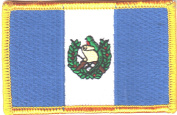 GUATEMALA FLAG/Iron On Embroidered Applique Patch /Flag of Guatemala