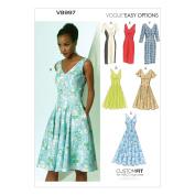 Vogue Patterns V8997 Misses' Dress Sewing Template, Size A5