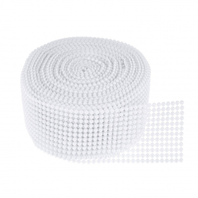 TtoyouU 5.6cm X 10 Yards Pearl Mesh Wrap Ribbon Bead Roll Pearl Trim for Wedding,Party Decorations (White)