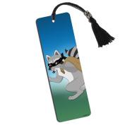 Raccoon Bandit Printed Bookmark with Tassel