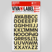 Inkviva 3D Iron On Letters Heat Transfer Label Name Appliqué -Half Inch -12mm -Black
