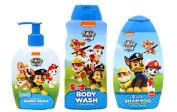 Paw Patrol Body Wash, Hand Soap, 2-in-1 Shampoo Bundle Set