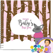 Baby's First Year Memory Book With 12 Milestone Stickers, Girl's Winter Edition
