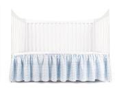 Tadpoles Crib Skirt Seersucker, Blue