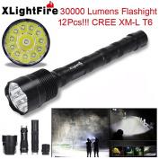 Flashlight,Baomabao XLightFire 30000 Lumens 12x CREE XML T6 5 Mode 18650 Super Bright LED Flashlight