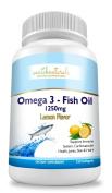enrich naturals 1250mg Omega 3 Fish Oil, Lemon Flavour, 120 Capsules