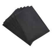 Blu Monaco Vinyl PVC Placemats 46cm by 30cm - Available in Black or Dark Brown- Set of 6 - Protect your Kitchen Table from Spills and Scratches - Ideal for Big Families