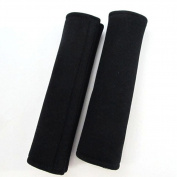 SZTARA 1 Pair Car Safety Seat Belt Shoulder Pads Neck Support Pillow Cover Comfort Hook and loop Strap Travel Cushion