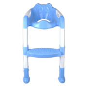 VANKER Baby Foldable Potty Trainer Chair Toilet Seat Safety Non-Slip Ladder Stool New