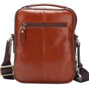 BISON DENIM Mens Genuine leather Messenger Casual Cowhide Shoulder Bag