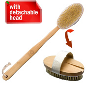 Bath Blossom Shower Brush Long Handle Detachable- Exfoliating Body And Cellulite Brush Massager Suitable For Men And Women