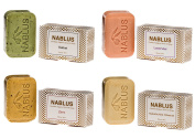 Nablus Soap Natural Olive Oil Set of 4 (4x100g) Lavender, Natural Olive Oil, Sage, Cinnamon
