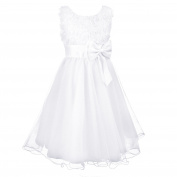 Discoball Girls Flower Formal Wedding Bridesmaid Party Christening Princess Kids Clothes Dress 2-12 years