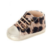 Clode® 0-18 Months Baby Girls Boys Toddler Infant Leopard Lace Up Soft Sole Crib Toddler Newborn Shoes