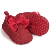 First Walking Shoes Baby Girls Longra® New Born Baby Girls Bowknot Decoration Anti-slip Sole Baby Shoes (11