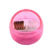 1 Pc Portable Manicure Nail Art Drill Cleaning Box With Soft & Hard Brushes Nail Art Tools