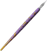 Glass Feather Tips for Fantastic and Detailed Nail Art ~ ~ LAVENDER/Gold