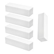 Set of 5 White Nail Buffing Sanding Blocks 4 Sides 240/240 - Manicure, False Nails & Nail Art