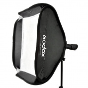 Godox 40 x 40cm Softbox Diffuser with S-type Bracket Bowens Holder for Speedlite Flash Light