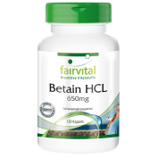 Fairvital - Betaine HCl 650mg - 120 Capsules