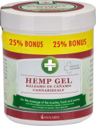Annabis Hemp Gel – Massage gel for Frequent Massage of the Skin in the Area of Muscles, Back and Joints made from Cannabis Sativa Hemp Seed Oil - 300ml + 75ml Bonus