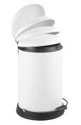 Wenko 22157100 Lagun Easy-Close 28 x 43.5 x 33 cm White Steel Pedal Bin 12 L