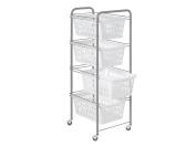 ARTEX Shopping Siena 4 white baskets Storage boxes