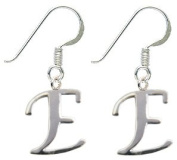 Silver Earrings with Initials - packed in a lovely velvet bag